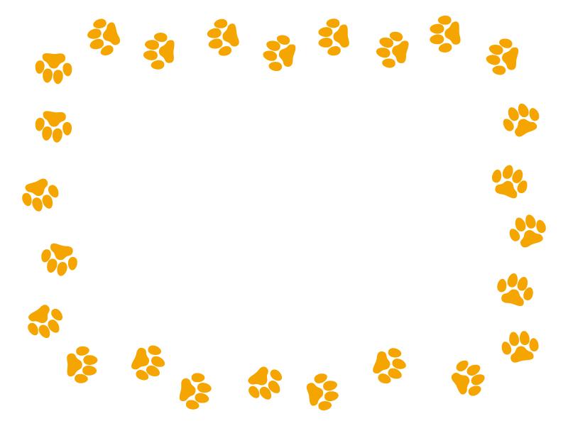 肉球(オレンジ)のフレーム・枠素材