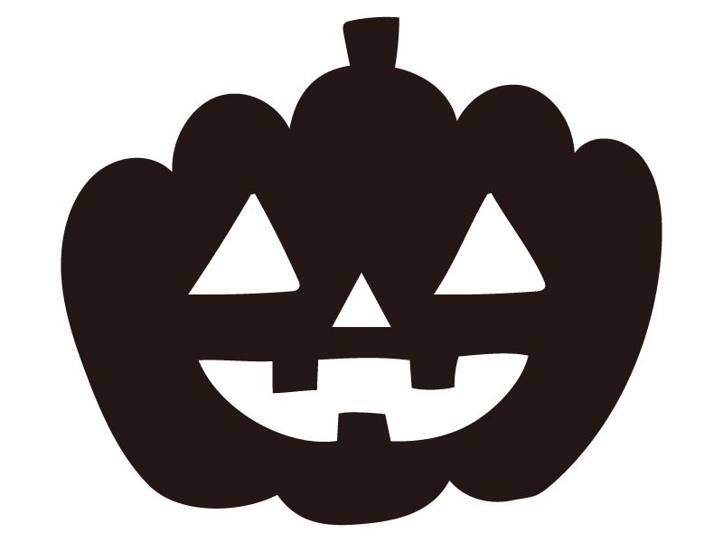 かぼちゃ・ハロウィンのシルエットイラスト
