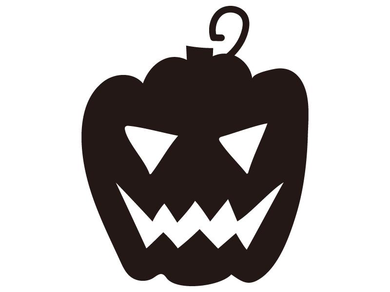 かぼちゃ・ハロウィンのシルエットイラスト02