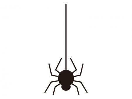 蜘蛛クモ・ハロウィンのシルエットイラスト