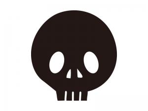 ガイコツ骸骨・ハロウィンのシルエットイラスト