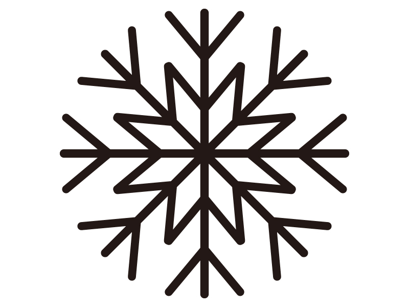 雪の結晶のシルエットイラスト
