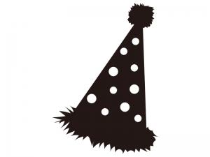 パーティー帽子のシルエットイラスト