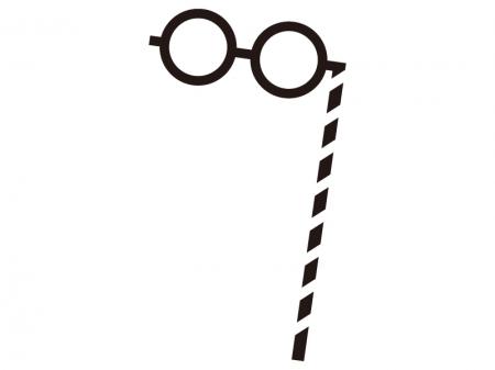 フォトプロップス・メガネのシルエットイラスト