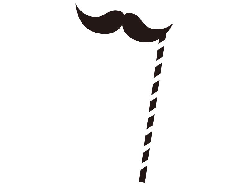 フォトプロップス・髭ヒゲのシルエットイラスト