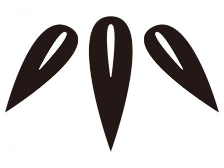 竹・年賀状のシルエットイラスト