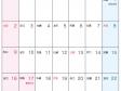 六曜付・2018年9月(平成30年)カレンダー・A4印刷用