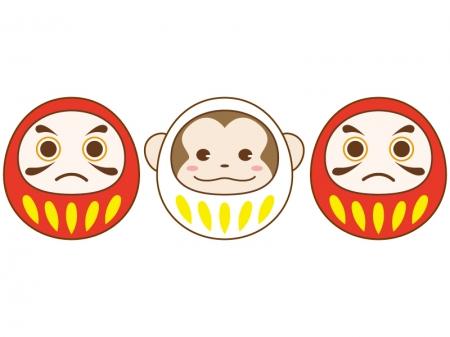 ... (お猿さん顔)のイラスト