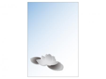 文字無し・蓮の花の喪中はがきテンプレートイラスト01