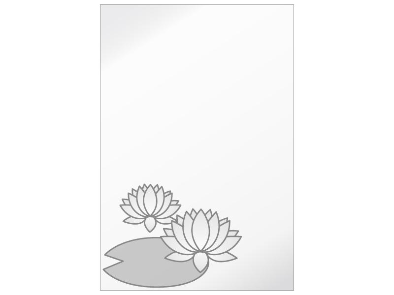 文字無し・蓮の花の喪中はがきテンプレートイラスト03