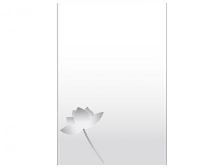 文字無し・蓮の花の喪中はがきテンプレートイラスト04