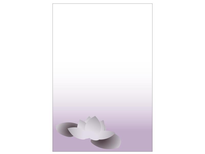 文字無し・蓮の花の喪中はがきテンプレートイラスト05