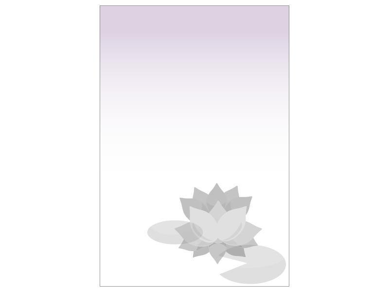 文字無し・蓮の花の喪中はがきテンプレートイラスト06