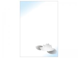 文字無し・蓮の花の喪中はがきテンプレートイラスト09