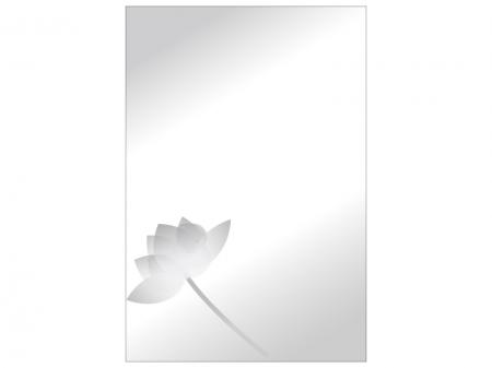 文字無し・蓮の花の喪中はがきテンプレートイラスト10