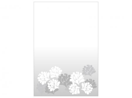 文字無し・花の喪中はがきテンプレートイラスト01