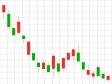 株価・FXの下落トレンドのローソク足チャートのイラスト