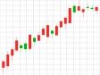株価・FXの上昇トレンドのローソク足チャートのイラスト