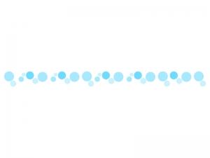 水玉・アクアの線・ライン素材