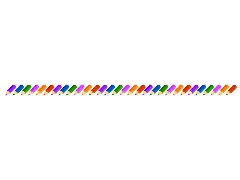 色鉛筆の線・ライン素材