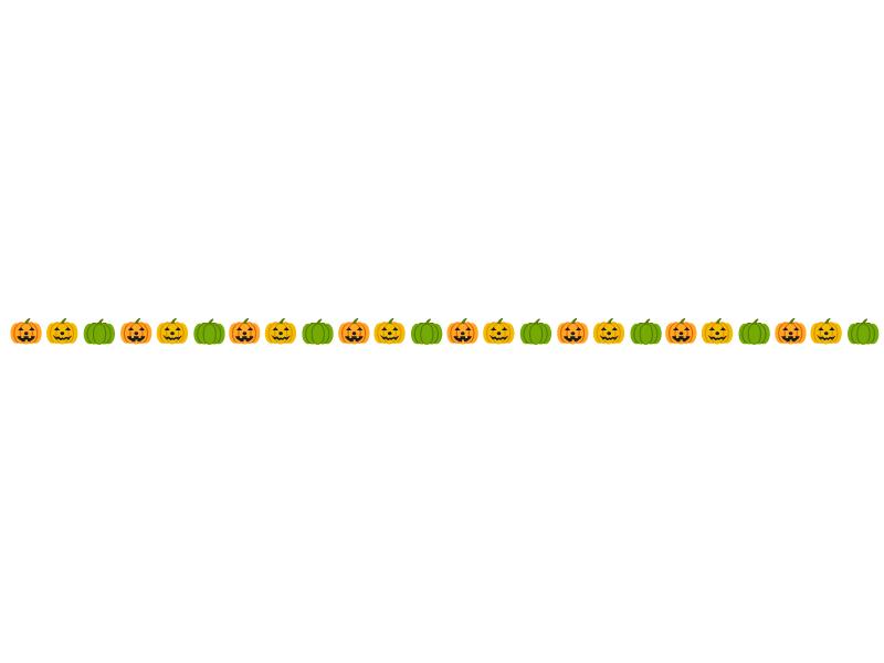 かぼちゃ・ハロウィンのライン・線イラスト