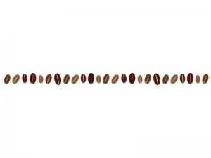 コーヒー豆のライン・線イラスト