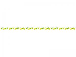 イチョウ(銀杏)のライン・線イラスト
