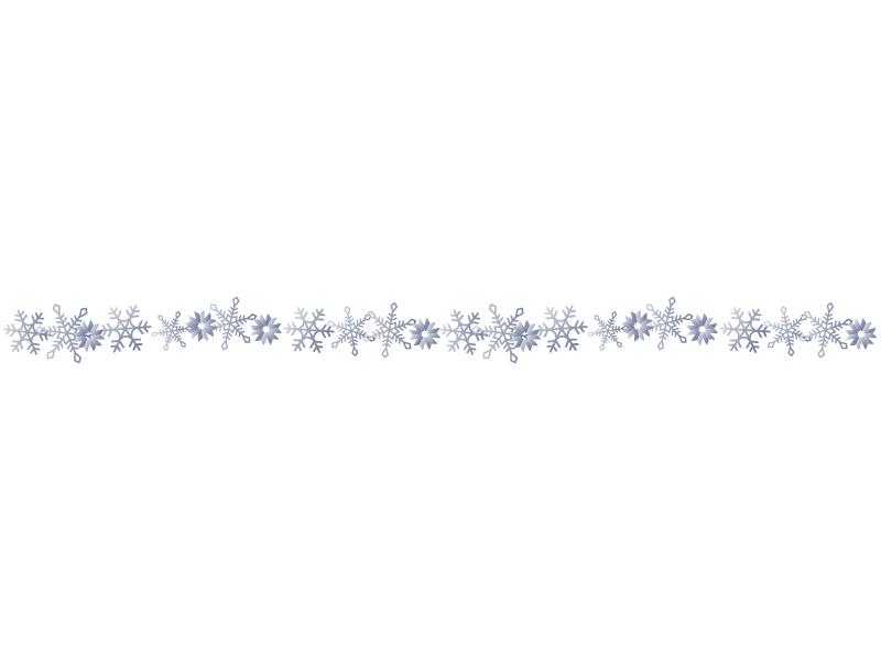 雪の結晶(シルバー)のライン・線イラスト