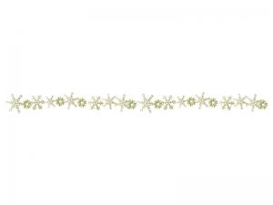 雪の結晶(ゴールド)のライン・線イラスト