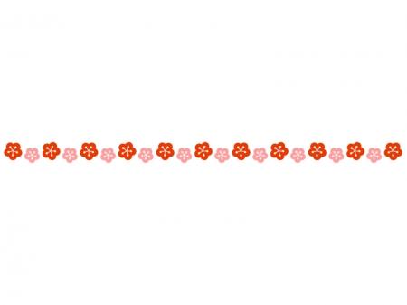 梅の花のライン・線イラスト