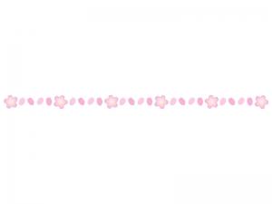 桜の花びらの線・ライン素材02