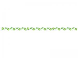 クローバーのライン・線イラスト