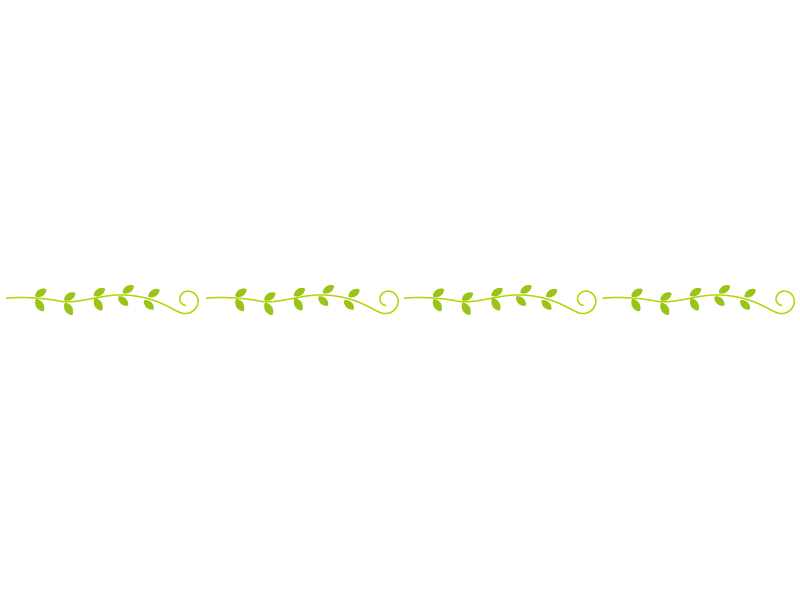 草・ツタのライン・線イラスト