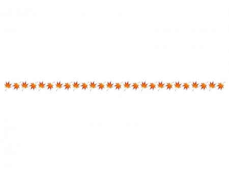 モミジ(紅葉)のライン・線イラスト02