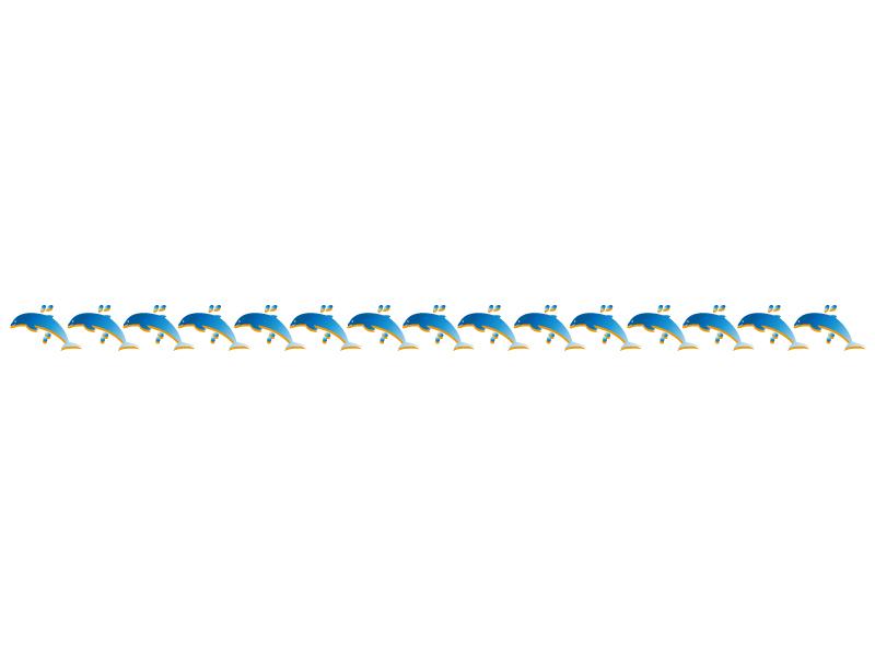 イルカのライン・線イラスト
