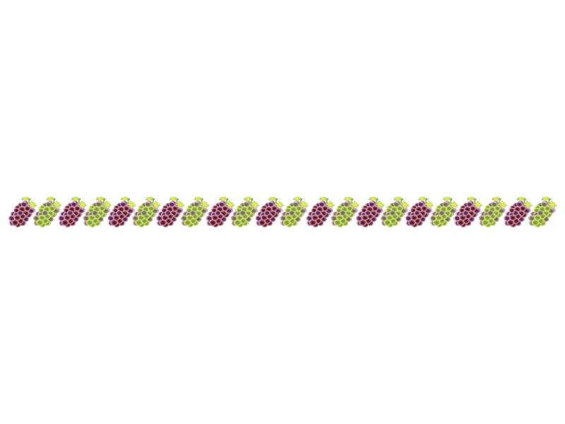 ぶどう(葡萄)・マスカット・果物のライン・線イラスト