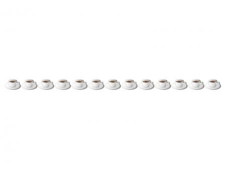 コーヒーカップのライン・線イラスト