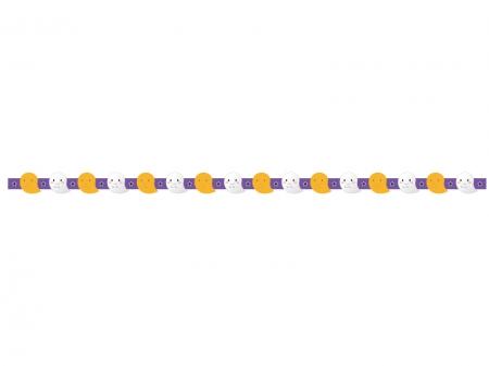 お化け・ハロウィンのライン・線イラスト