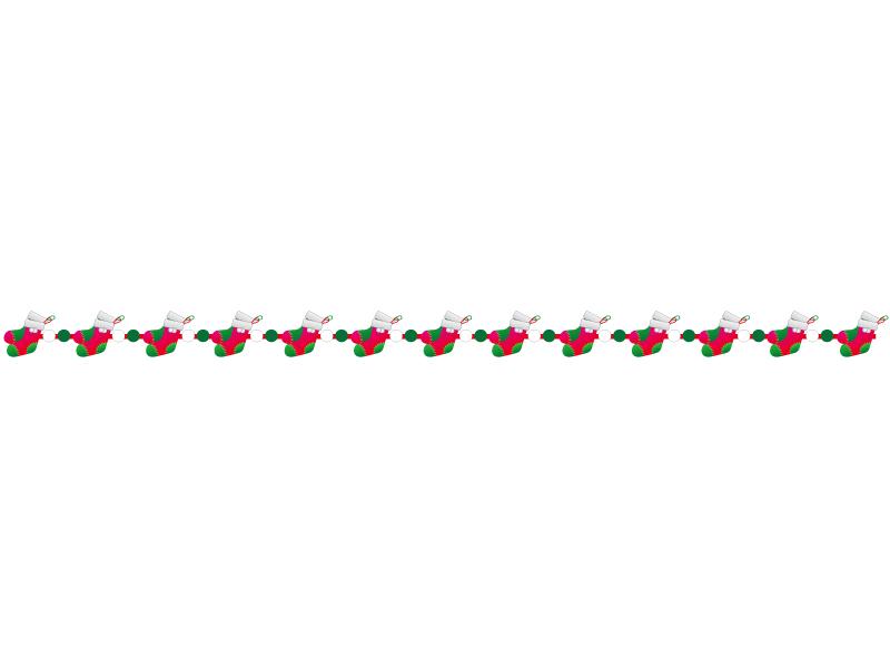 クリスマスブーツ・冬のライン・線イラスト