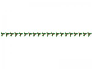 クリスマス・柊(ひいらぎ)のライン・線イラスト