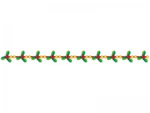 クリスマス・柊(ひいらぎ)のライン・線イラスト02