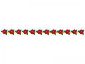 クリスマス・ポインセチアのライン・線イラスト02