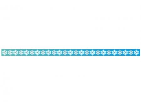 雪の結晶のライン・線イラスト