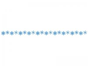 雪の結晶のライン・線イラスト02