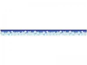 雪の結晶のライン・線イラスト03