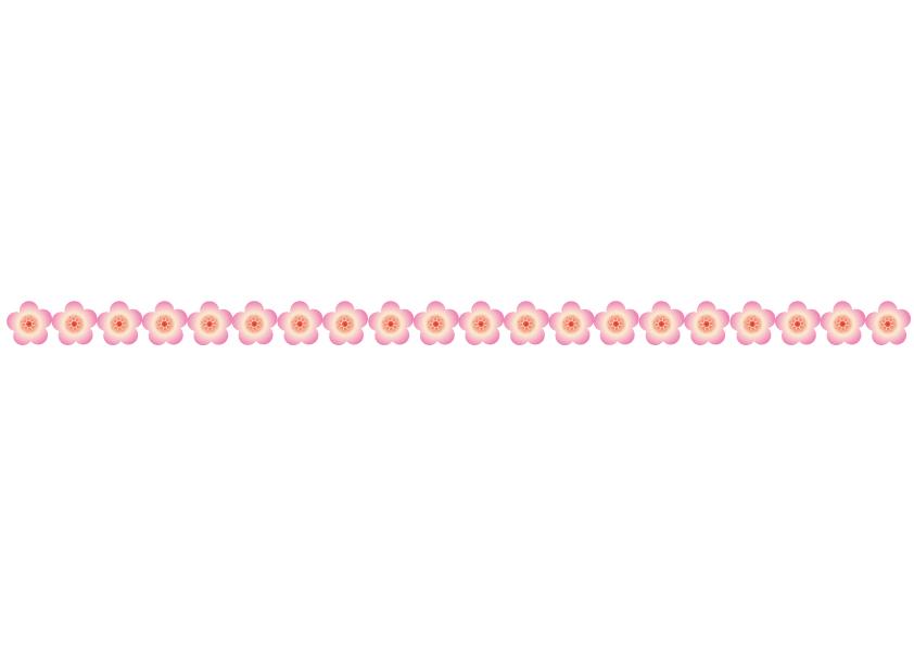 梅の花のライン・線イラスト02