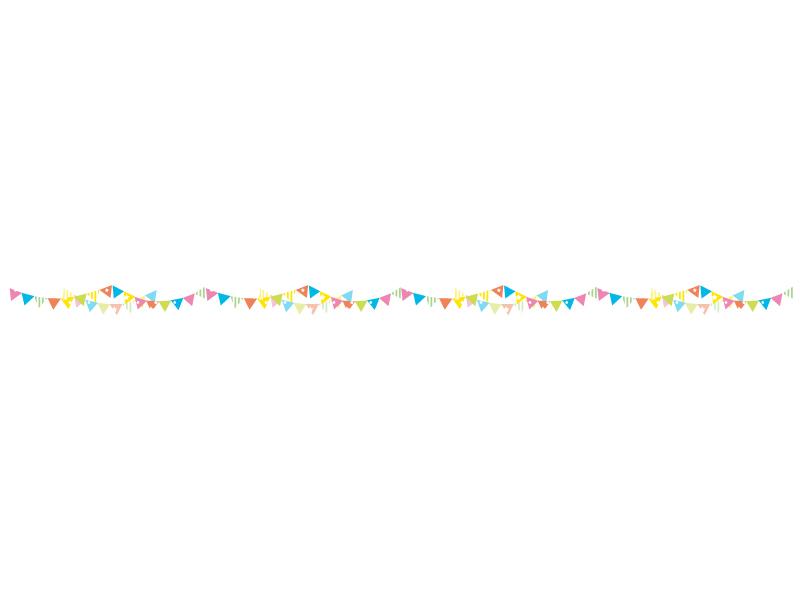 フラッグガーランドのライン・線イラスト