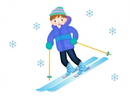 スキーをしている男性のイラスト