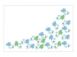 文字無し・手書き小花の寒中見舞いテンプレートイラスト02