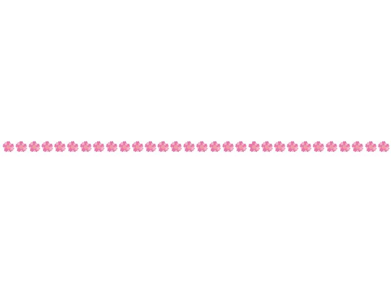 桜の花びらの線・ライン素材04